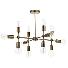 Combining Vintage and Industrial Styling in this standout Vintage piece with exposed bulbs, add vintage edison bulbs for the ultimate Vintage look