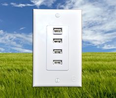 An even better version of the USB wall outlet. (And this one's flat like a regular outlet!)