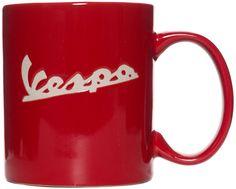 VESPA EMBOSSED LOGO MUG RED $10.00 #vespa #housewares #mug #coffee