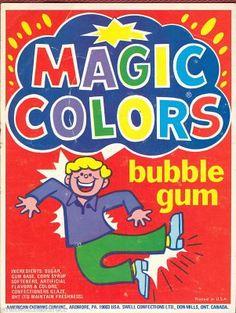Magic Colors Bubble Gum wrapper