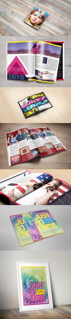 Visual Identity, Magazine Design, and Flyer for El Tercer Ojo