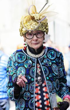 ADVANCED STYLE: Rollerena at The Easter Parade