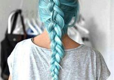 pastel blue braid
