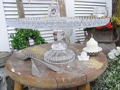 Vintage Kerzenständer - exclusive Tortenplatte Bleikristall shabby chic - ein Designerstück von artdecoundso bei DaWanda