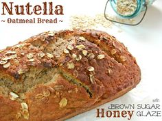In Katrina's Kitchen: Nutella Oatmeal Bread with Brown Sugar Honey Glaze and Red Star Yeast Giveaway Brown Sugar Honey Glaze, Oatmeal Bread, Brunch, Nutella Recipes, Bread Recipes, Brown Bread, Bread And Pastries, Dessert Bread, Breakfast Time