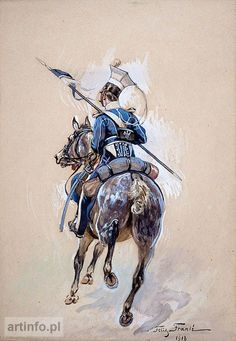 Ułan 2 pułku ułanów Królestwa Polskiego Military Uniforms, Human Emotions, Napoleonic Wars, Empire, Victorian, History, Drawings, Period, Polish