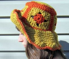 Hats are another thing that everyone can crochet and there are many, many out there that look the same as all of the other but there are also some truly creative ones. Crochet Adult Hat, Crochet Cap, All Free Crochet, Unique Crochet, Crochet Shoes, Crochet Beanie, Diy Crochet, Crochet Headbands, Crochet Granny