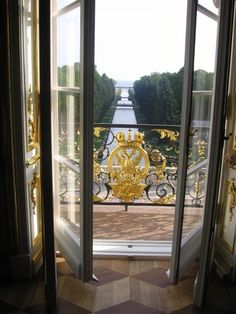 View of the Canal of Finland from the Throne Room of the Peterhof Palace