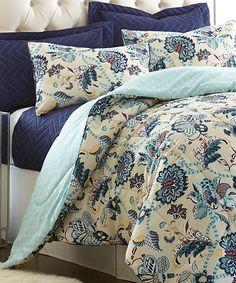 Blue & Yellow Hope Reversible Comforter Set
