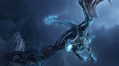Wrath Of The Lich King Dragon Wallpaper. This wallpaper features a dragon from the second World of Warcraft game expansion, Wrath of the Lich King. Ice Dragon, Black Dragon, Dragon Art, Water Dragon, Dragon Bones, Robot Dragon, Dragon Fight, 3d Fantasy, Fantasy Dragon
