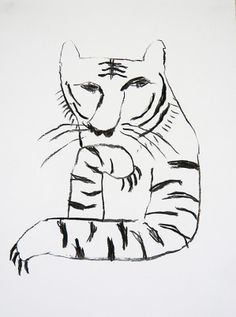 一瞥をくれるトラ the tiger which takes notice