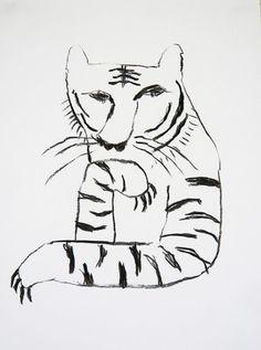 the tiger which takes notice. tetsuhiro wakabayashi