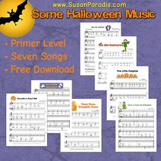 She remade all the primer level Halloween music into portrait orientation so it will fit in my student's binders.
