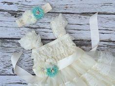 Flower girl dress. Girls Ivory lace dress. Toddler dress. Ivory lace girls dress. Country wedding. Ivory chiffon girls dress. by KadeesKloset on Etsy https://www.etsy.com/listing/286060783/flower-girl-dress-girls-ivory-lace-dress