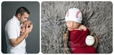 Newborn baseball photos and with Dad #tentinytoesphotography