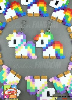 Unicorn Party Favors Zipper Pulls l Pastel Unicorn Party