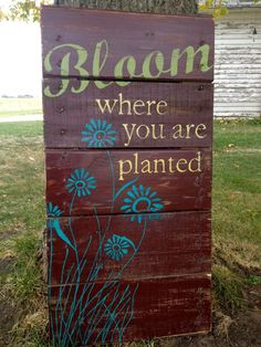 Not only are garden signs meant to be read, passing on a fun, whimsical or heartwarming message, but they are also a wonderful garden decor element.