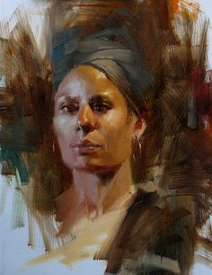 "qiang-huang, a daily painter: ""AAU Portrait Painting 6"""