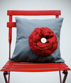 Gray Linen Pillow