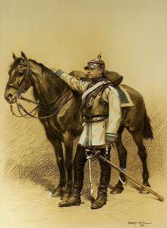 Edouard Detaille (1882) Oficial de coraceros prusiano. Guerra franco-prusiana de 1870