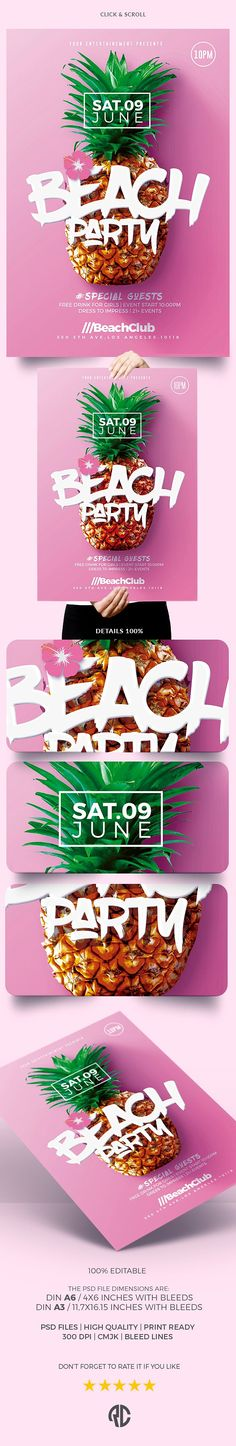 New ! Summer Beach Party | Psd Flyer Templates - Creative Design perfect to promote your Next Event !