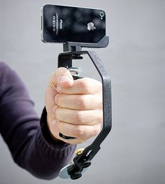 Soporte para tomar fotos y video para iPhone.