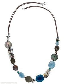 SILPADA MT-N2228 Watercolors Necklace.  Watercolors Indigo and brown tones with etched Shell, Obsidian, Agate, Brass, Magnesite, Quartzite and .925 Sterling Silver with three strands of brown cord.  On sale for $83 which is 40% off the original price of $139.   Length is 28 inches.  Add $5 for shipping unless local.  Send email to lcrowsilpada@yahoo.com if want to purchase.  Debia/Credit Paypal Here accepted.