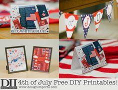 Easy DIY 4th of July Free Printables | Independence Day Printables for merchandising displays, for the home, or for your party! || Gift store merchandising ideas from Design Imports www.designimports.com/blogs/news