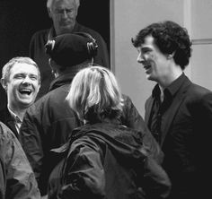 Gif of Martin and Benedict laughing. you're welcome. Tumblr