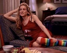 Carrie Bradshaw Style, Patricia Field, Flowy Summer Dresses, The Carrie Diaries, Tv Icon, Striped Socks, Sarah Jessica Parker, Barbie World, City Style