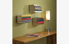 Conceal Invisible Bookshelf Wall Mounted Floating Book Shelf Shelves Storage in Home, Furniture & DIY, Furniture, Bookcases, Shelving & Storage Creative Bookshelves, Floating Bookshelves, Wall Bookshelves, Bookshelf Design, Wall Shelves, Book Shelves, Bookshelf Ideas, Simple Bookshelf, Mounted Shelves
