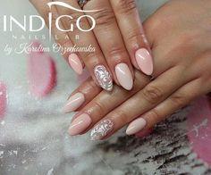 by Karolina Orzechowska Indigo Educator :) Follow us on Pinterest. Find more inspiration at www.indigo-nails.com #nailart #nails #indigo #nude #sugar #effect