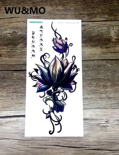 [Visit to Buy] WU&MO QC661 20X10cm Long Colorful High Solution Sex Products Flowers Lotus Circle Designer Temporary Flash Tatoo Sticker Taty #Advertisement