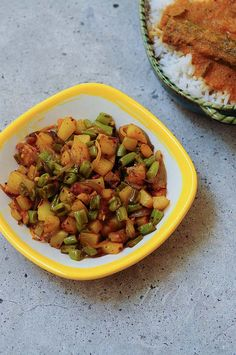 Beans Aloo Sabzi Recipe - Potato Beans Stir-Fry Recipe - Step by Step - Edible Garden Potato Vegetable, Vegetable Curry, Vegetable Side Dishes, Fried Fish Recipes, Stir Fry Recipes, Cooking Recipes, Snack Recipes, Indian Potato Recipes, Indian Food Recipes