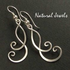 hammered wire jewelry   HAMMERED WIRE EARRINGS   Jewelry DIY ideas by ladysharlyne