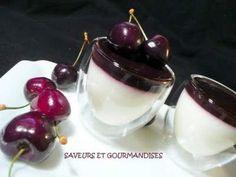Recette Dessert : Panna cotta à la gelée de cerises. par Nadjibella