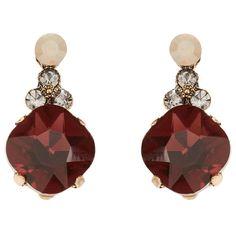 Accessorize Clip On Jolene Jewel Short Drop Earrings (71 MYR) ❤ liked on Polyvore featuring jewelry, earrings, clip on earrings, accessorize jewelry, sparkly earrings, jewels jewelry and jeweled earrings