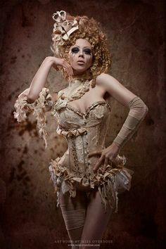 creepykeyla: The detail in her customs and makeup burlesque costume pinup model. Marie Antoinette, Burlesque Vintage, Vintage Circus, Idda Van Munster, Oki Doki, Look At My, Burlesque Costumes, Burlesque Clothing, Burlesque Corset