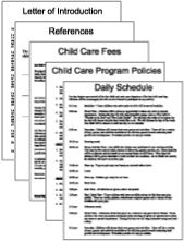 Child Care Village is a site to join for a fee that gives access to daycare forms, craft ideas, menus and lots of other stuff. Looks like a good resource.
