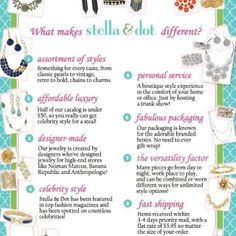 What makes Stella and dot different? Ask me about more www.stelladot.com/amyjpierce