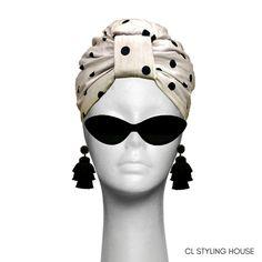 Handmade and lined CL Polka Dot Cotton Turban. Turbans, Cl, Headbands, Polka Dots, Stylish, Unique, Cotton, Handmade, Beauty