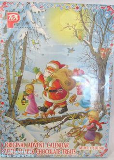 Last One for this year !!! Advent Calender Original Santa Holiday Countdown 24 German Chocolate New