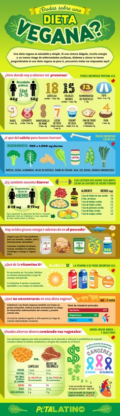 ¿Dudas acerca de una dieta vegana? (Infografía) | Features | PETA Latino