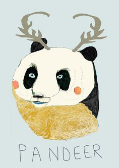 Pandeer  Limited edition art print by Ashley by Ashley Percival