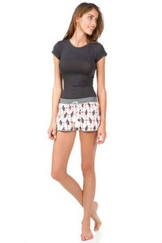 Penguin Fleece Pajama Shorts