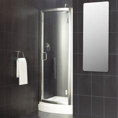 Fully Enclosed Shower v8+ frameless quadrant shower enclosure 900 £229.99 + £89.99 tray