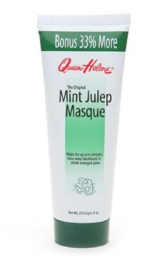 Put this on after a shower when skin is moist, it will draw all the junk out.