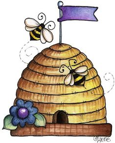 Ilustration by Laurie Furnell Bee Rocks, Bee Drawing, Bee Cards, Design Blog, Bee Happy, Bees Knees, Tole Painting, Rock Art, Tags