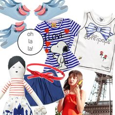 an outfit  with cool breton stripes inspired by Paris // kid-a.gr