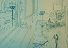 POV pen sketching at my wife and sons piano lesson.